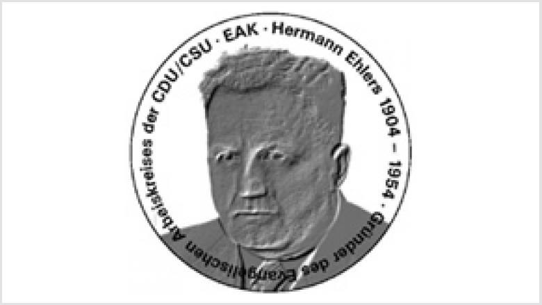 Vorderseite der Hermann-Ehlers-Medaille