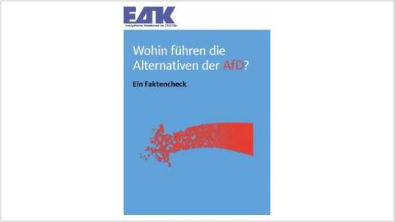 Faktencheck zur AfD - Broschüre des EAK der CDU/CSU